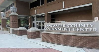 The front entrance of the Lancaster County Government Center
